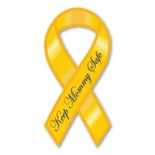 "Keep Mommy Safe 8"" Ribbon Magnet"