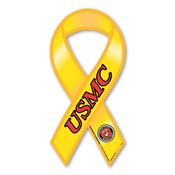 "USMC 8"" Yellow Ribbon Magnet"