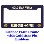 Gold Star Pin Licence Plate Frame