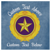 Embroidered Gold Star Pin Design with Custom Text Above and Below  - Fleece Vest