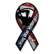 "Iraq War Veteran 8"" Ribbon Magnet"