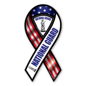 "National Guard RWB 2-in-1 8"" Ribbon Magnet"