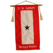 Custom Embroidered Nylon Blue Star Service Flag