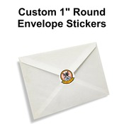 "1"" Round Envelope Stickers"