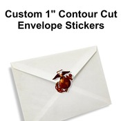"1"" Envelope Stickers - Contour Cut"