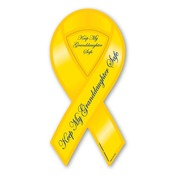 "Keep My Granddaughter Safe 8"" Ribbon Magnet"