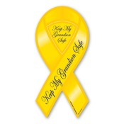 "Keep My Grandson Safe 8"" Ribbon Magnet"