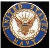 US Navy Branch Pin 3/4""
