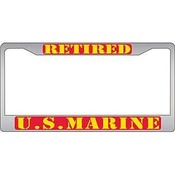 USMC Retired License Plate Frame