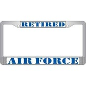 USAF Retired License Plate Frame