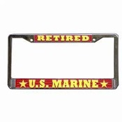 Retired Marine License Plate Frame (Limited Availability)