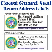 Coast Guard Seal Stock Address Labels