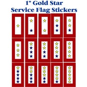 "Gold Star Service Flag 1"" Envelope Stickers"