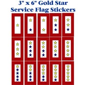 "Gold Star Service Flag 6"" Sticker"