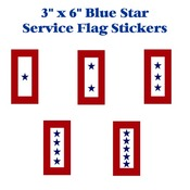 "Blue Star Service Flag 6"" Sticker"