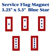"Blue Star Service Flag Magnet 3.25"" X 5.5"""