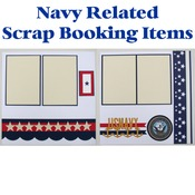 Navy Scrap Book Pages