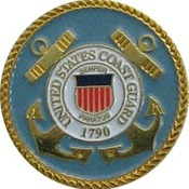 US Coast Guard Branch Pin 3/4""