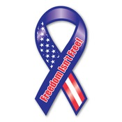 "Freedom isn't Free 8"" Ribbon Magnet"
