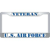 US Air Force Veteran License Plate Frame (limited availability)