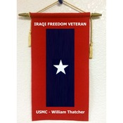 Custom Felt Veterans Service Flag