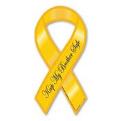 "Keep My Brother Safe 8"" Ribbon Magnet"
