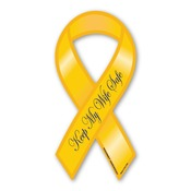 "Keep My Wife Safe 8"" Ribbon Magnet"