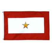 "30"" X 58"" Flagpole Gold Star Service Flag"