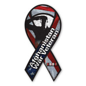 "Afghan War Veteran 8"" Ribbon Magnet"