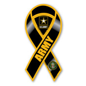 "Army Black 2-in-1 8"" Ribbon Magnet"