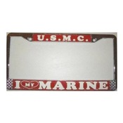 Love My Marine License Plate Frame (Limited Availability)