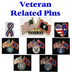 Veterans Flag Related Pins Thumbnail