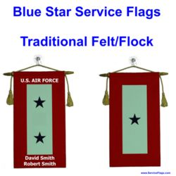 Felt Blue Star Service Flags Thumbnail