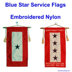 Embroidered Nylon Blue Star Service Flags Thumbnail