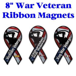 Veteran Ribbon Magnets Thumbnail