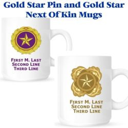 Gold Star Pin/NOK Mugs Thumbnail