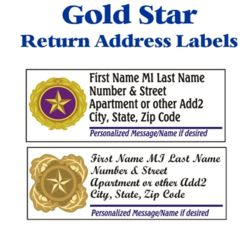 Stock Gold Star Labels Thumbnail