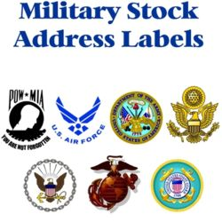 Military Emblem Address Labels Thumbnail