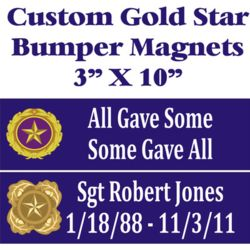 Gold Star Custom Magnets Thumbnail