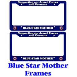 Blue Star Mother License Frames Thumbnail
