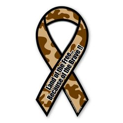 Camo Ribbon Magnets Thumbnail