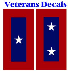 Veterans Service Flag Decals Thumbnail