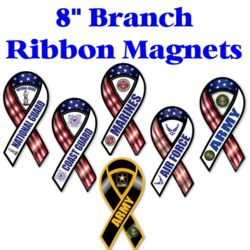 Miltary Branch Ribbon Magnets Thumbnail