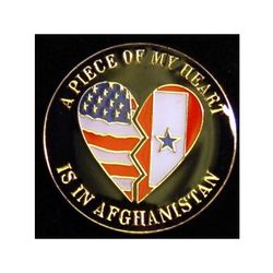 A Piece of My Heart is in Afghanistan Pin Thumbnail