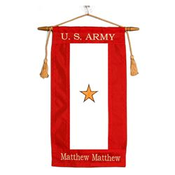 Embroidered Nylon Custom Gold Star Service Flag Thumbnail