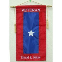 Custom Embroidered Nylon Veterans Service Flag Thumbnail
