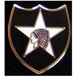 2nd Infantry Division Pin 3/4