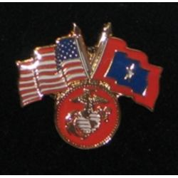 USMC Veterans Flag Pin Thumbnail