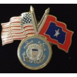 USCG Veterans Flag Pin Thumbnail