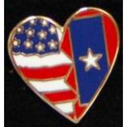 Veterans Flag Heart Pin Thumbnail